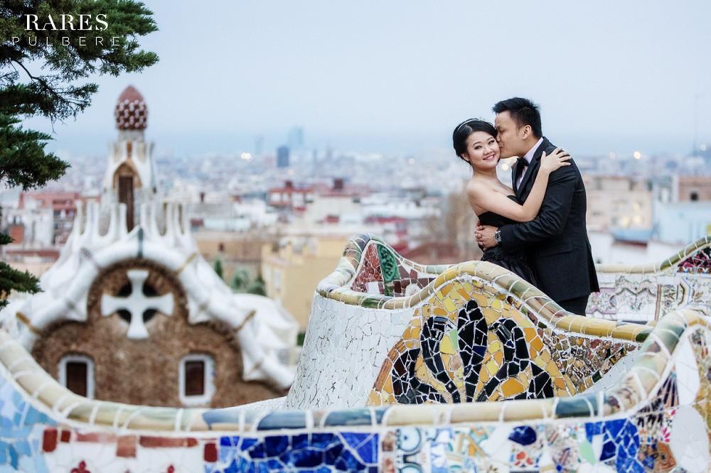 barcelona prewedding park guell