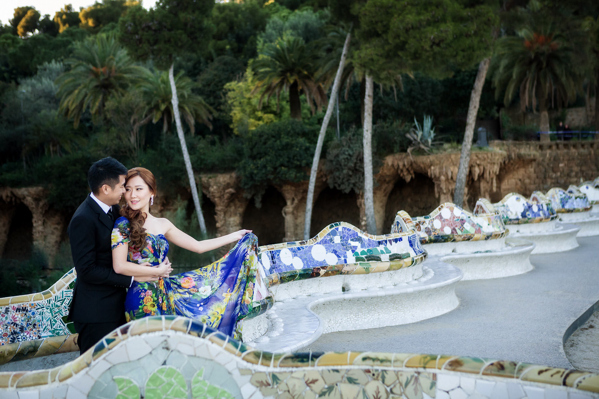 park guell photographer prewedding