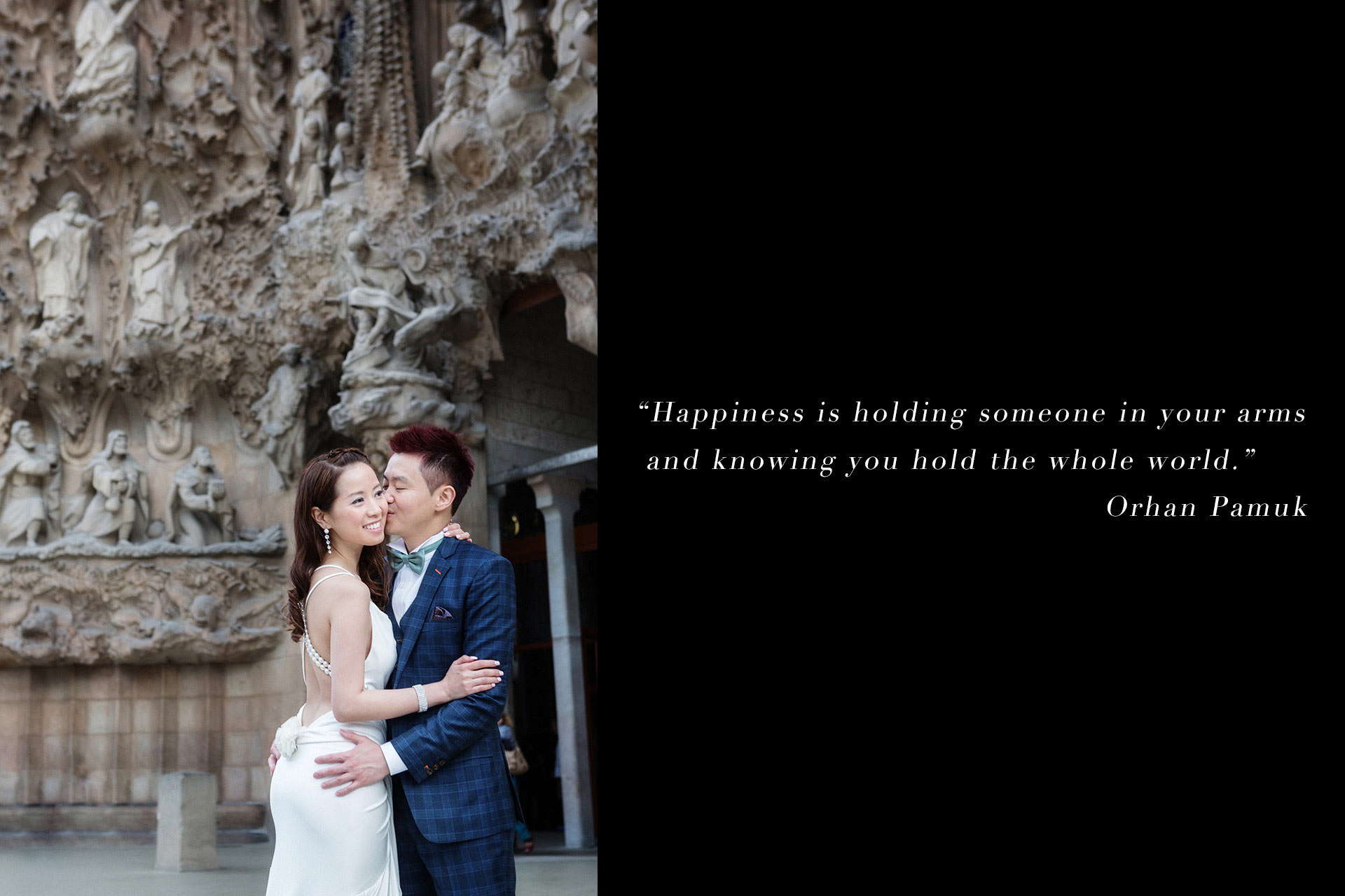 sagrada familia preweddig photography