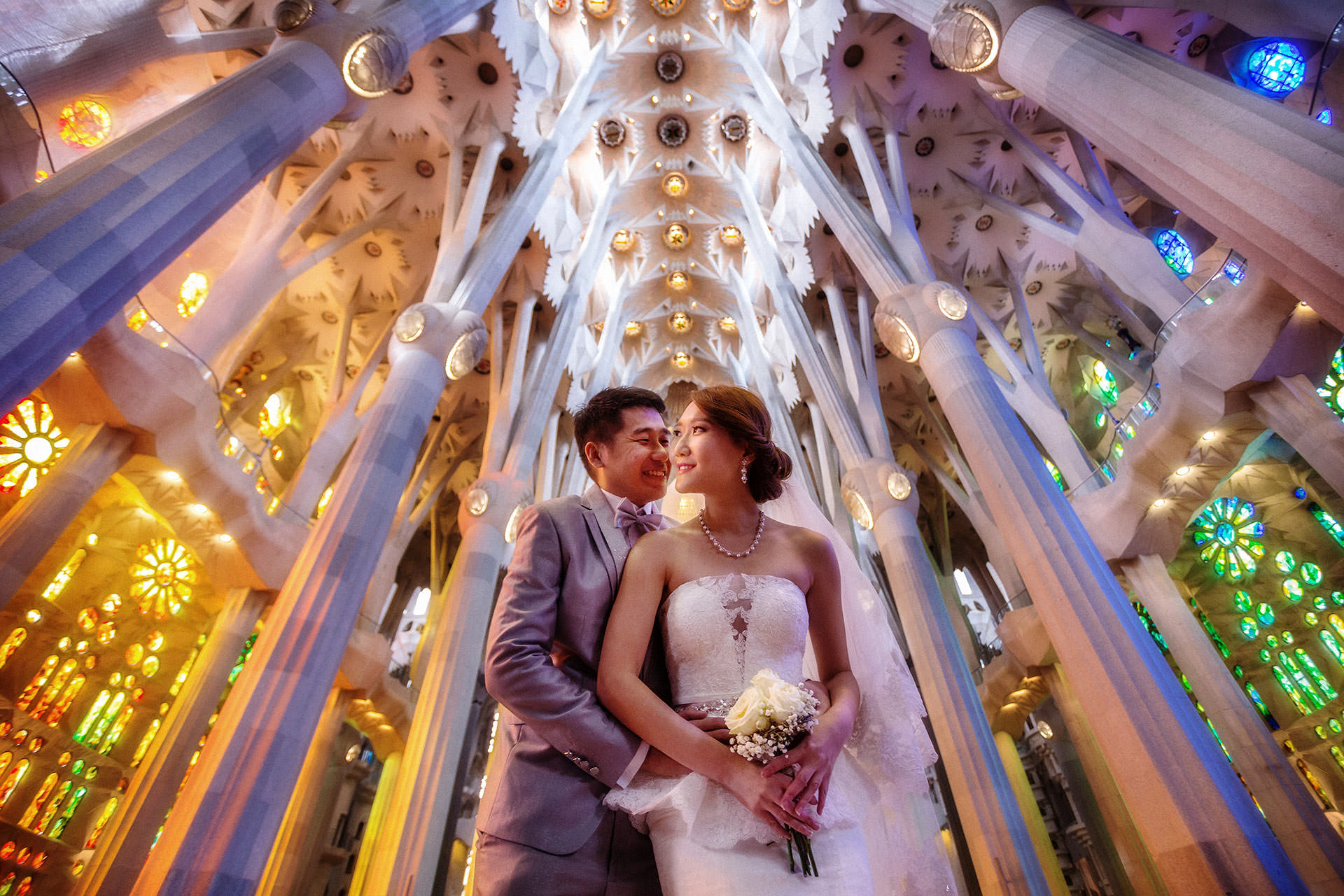sagrada familia prewedding photos barcelona
